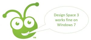 Cricut Design Space 3 works on Windows 7
