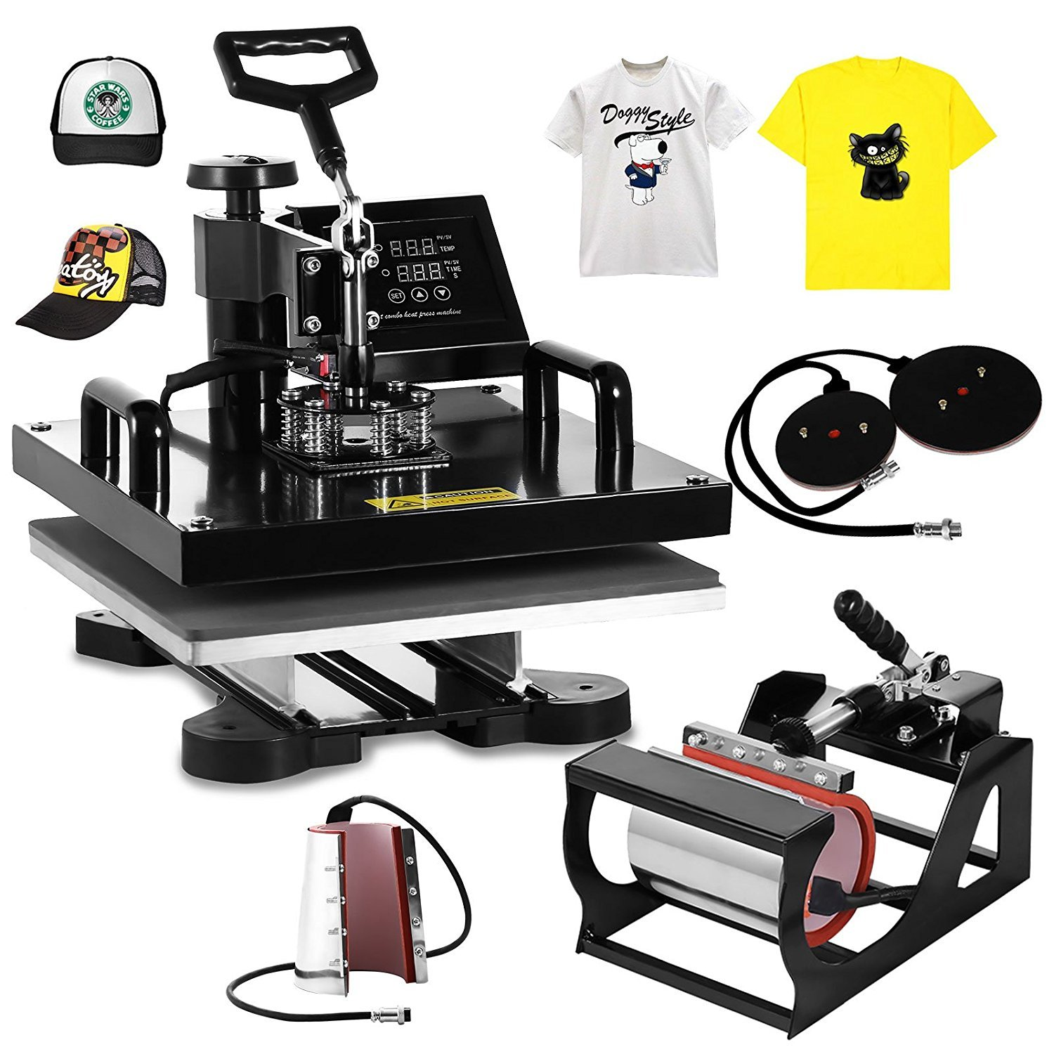 "BestEquip 6 in 1 15"" x 15"" Multi Heat Press"