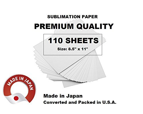 Sublimation Paper Made in Japan Size 8 5x11 inches  Pack of 110 Sheets  for  Sawgrass Virtuoso SG400 and SG800 Printers  High Definition